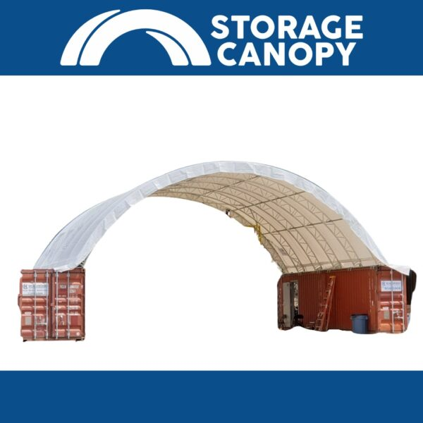 Shipping container roof 40x40 double truss