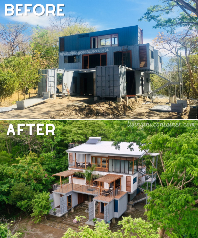 Before - after house shipping container