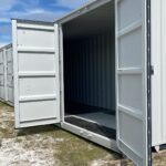 shipping container with many doors